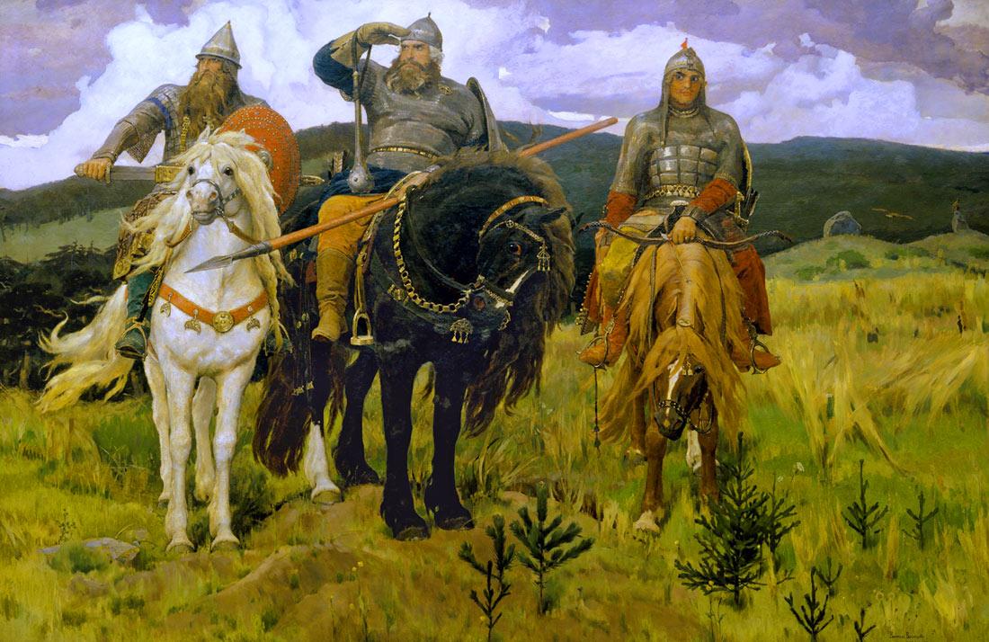 Картина три богатыря. 1898 г. Богатыри ...: art-portrets.ru/bogatyri_vasnetsova.html