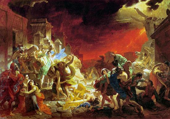 Картина Брюллова Последний день Помпеи. 1833 г.