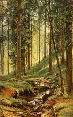 Пейзаж Шишкина, Ручей в лесу