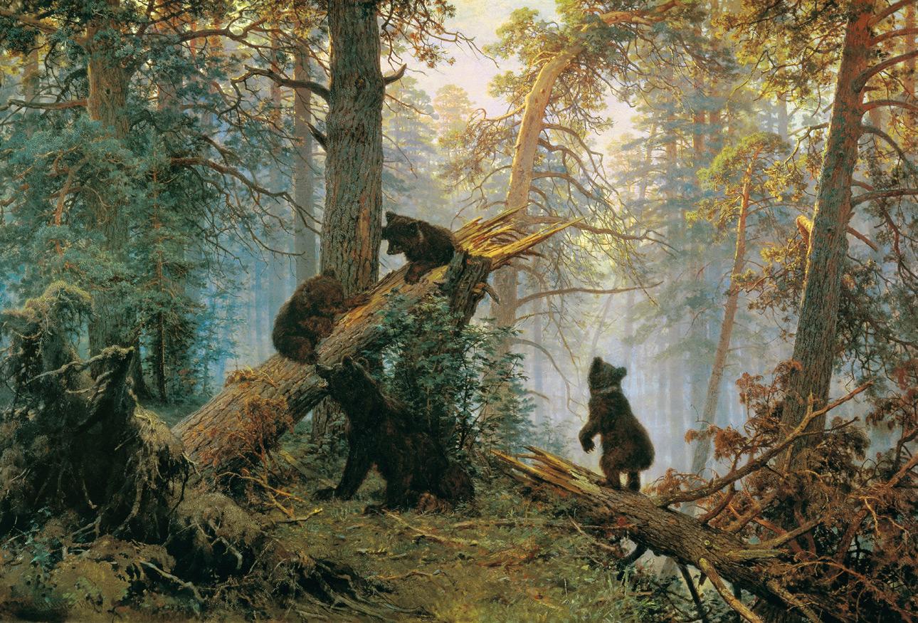 Картина шишкина shishkin bears painting