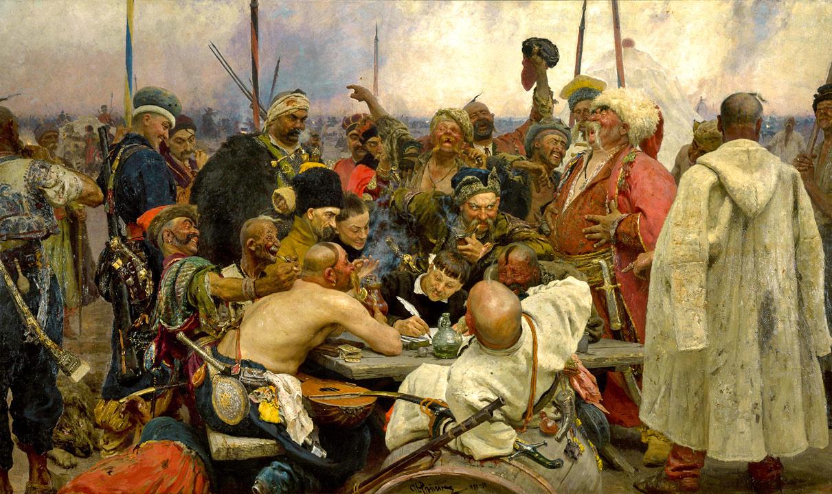 Картинки по запросу казаки пишут письмо султану картина