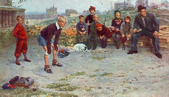 Картина Григорьева Вратарь.