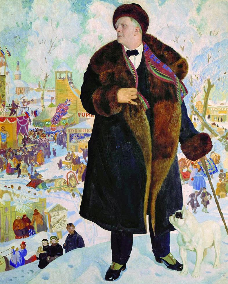 Image result for портрет шаляпина работы кустодиева