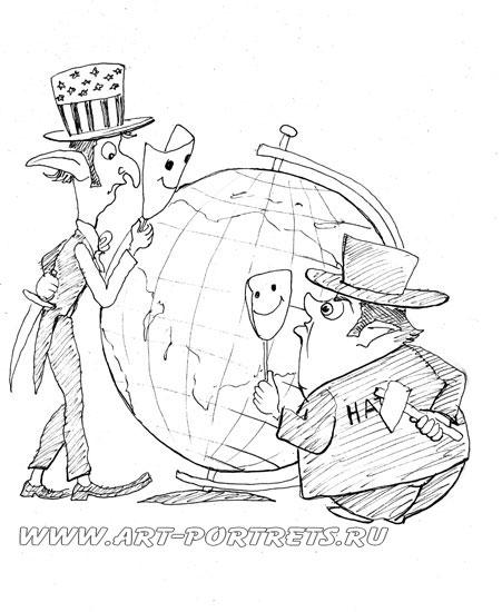 Новые маски политическая карикатура