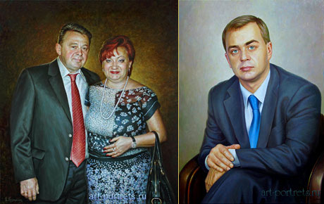 Classic oil painting portraits