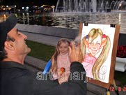 Childs time. Caricature for girl
