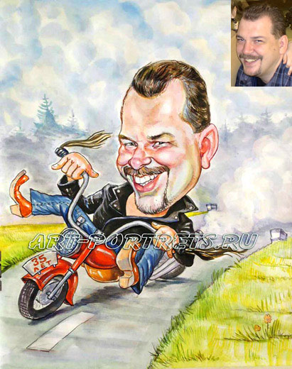 harley cartoon motorcycle picture