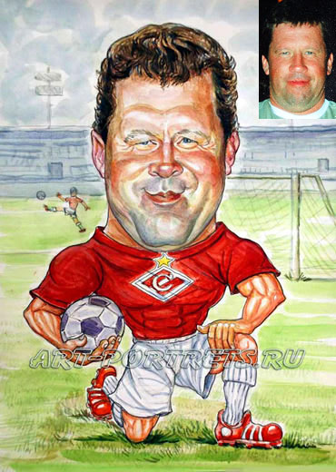 cartoon of a football player. friendly cartoon