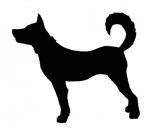 силуэт собаки. иллюстрации собаки.