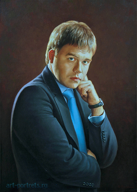Portrait of a young man oil on canvas