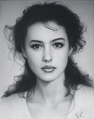 Monica Bellucci. Portrait of Bellucci