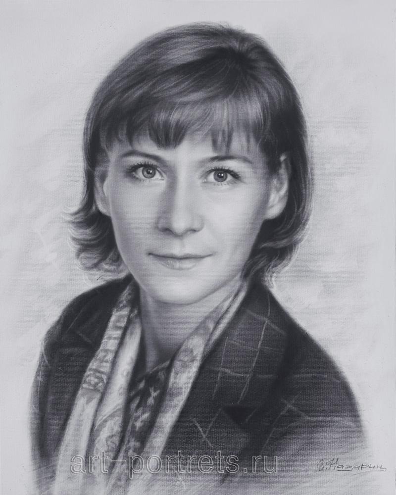 A beautiful woman portrait. Woman face drawing