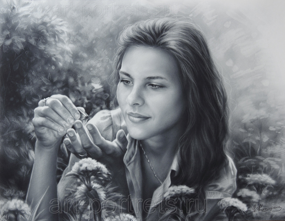 Drawing of beautiful girl, portrait of girls, Drawing girls faces