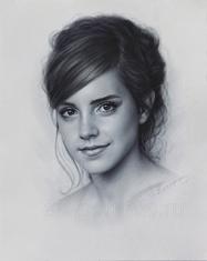 Emma Watson drawing portrait