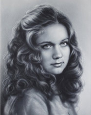 Drawing of a beautiful girl