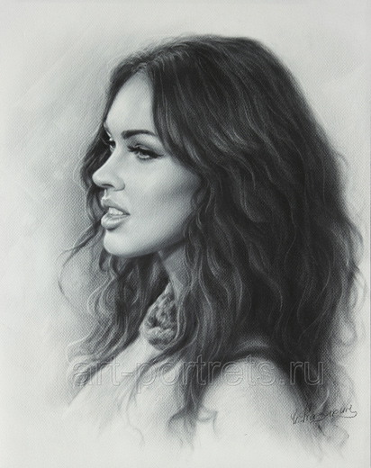 Megan Fox Drawing portrait