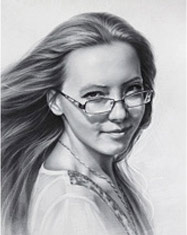Drawing of a pretty girl