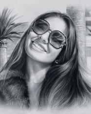 Portrait of a girl in sunglasses
