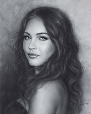 New Drawing portrait of Megan Fox 2016