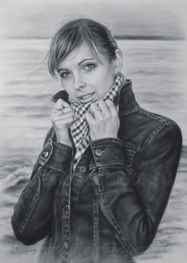 Портрет девушка у моря: www.art-portrets.ru/portret-devushka-u-morya.html