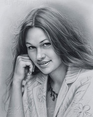 Black and white portrait of a romantic girl