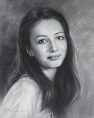 Attractive Russian young girl portrait