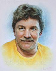 Colorful portrait of a man from a photo