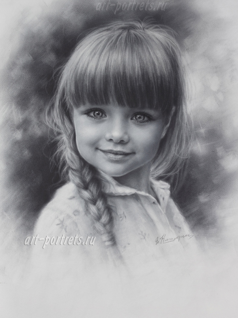 Portrait of child. Pictures of children drawing