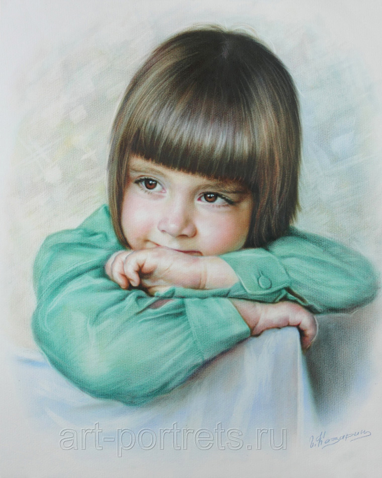 Color Portrait Drawings Drawing Color Portrait by