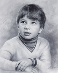 Drawing Portrait of child