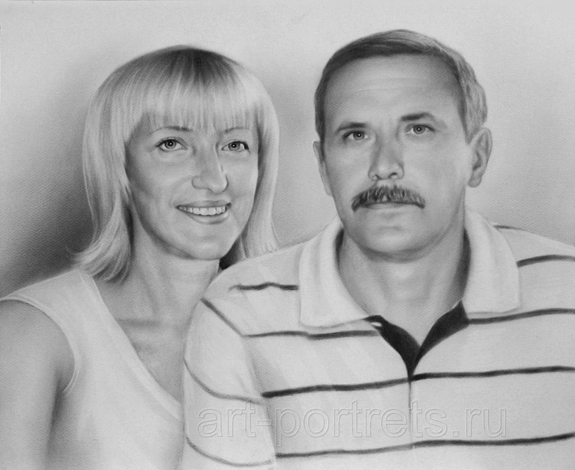 Family Portrait Painting Couple Drawing