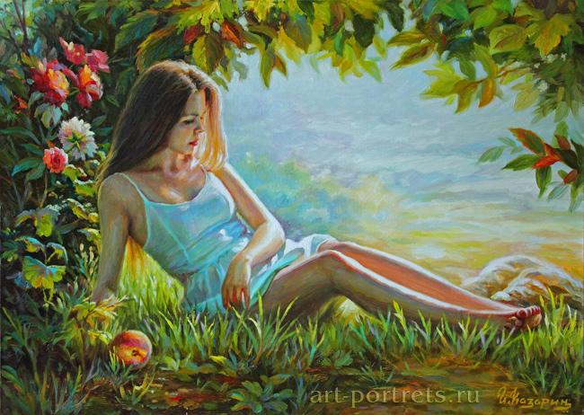 summer fantasy painting