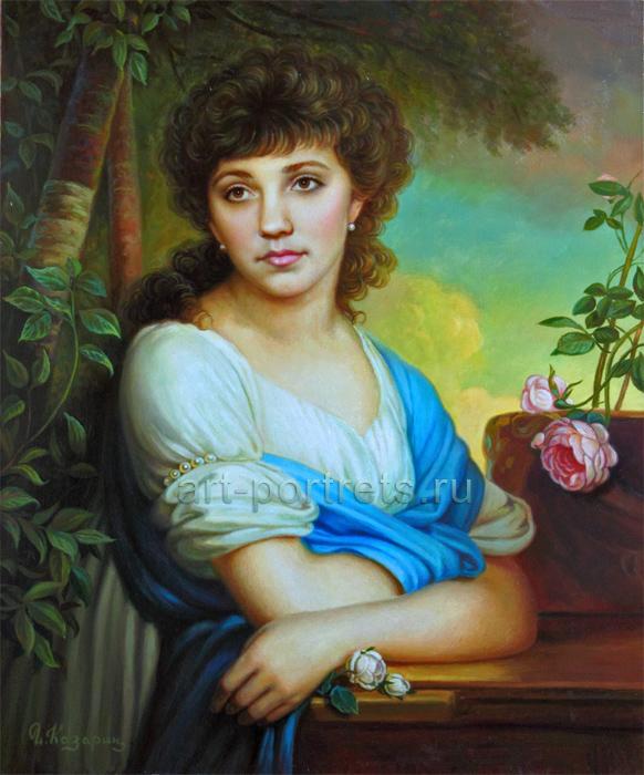 Портрет девушки в стиле ...: art-portrets.ru/portret-v-stile-borovikovskogo.html