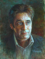 Al Pacino Painting of famous people