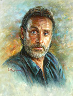 Andrew Lincoln - Rick Grimes, Famous people Painting
