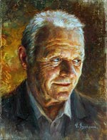 Anthony Hopkins Painting of famous people