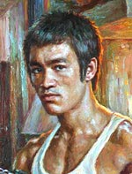 Bruce Lee Painting of famous people