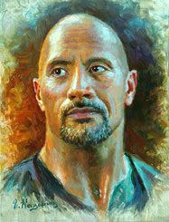 Dwayne Johnson Painting. The Rock. Celebrity Paintings