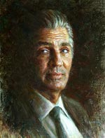 Eric Roberts, Oil Painting Portraits of famous actors