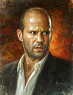 Jason Statham, Portrait Paintings of famous people