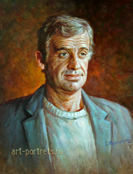 Portrait Painting of French actor Jean-Paul Belmondo