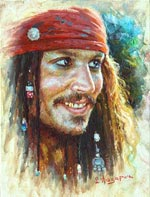 Johnny Depp - Jack Sparrow Painting