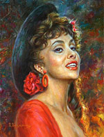 Gina Lollobrigida, Oil Painting Portraits of famous people