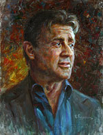 Sylvester Stallone, Oil Painting Portraits of famous people