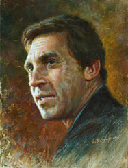Vladimir Vysotsky painting. Russian actor
