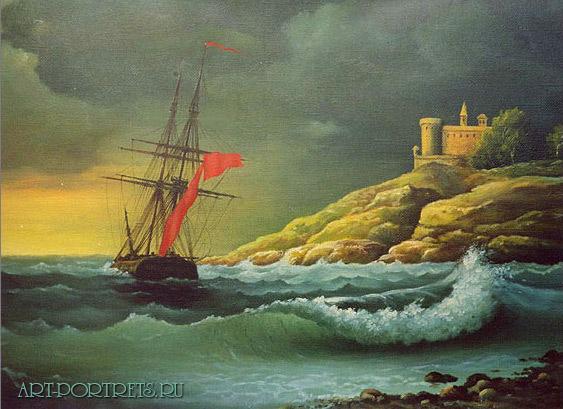 Морской шторм пейзаж моря