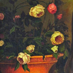 Still Life roses. Flowers in the old style