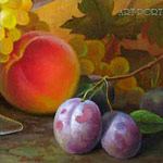 Still life of plums. fragment