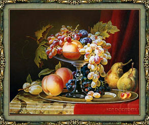 Still life painting fruit