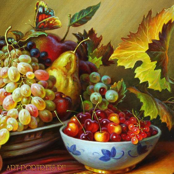 ... фруктами. Натюрморты картины на заказ: art-portrets.ru/6.html